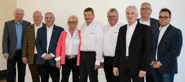 Der versammelte Vorstand des Gräfrather Heimatvereins