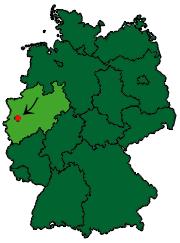 Die Lage Solingens in NRW